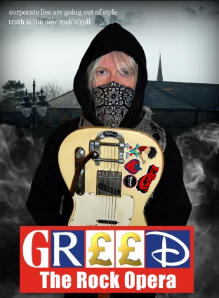 Scribble Man from Greed The Rock Opera